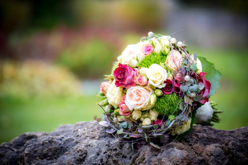Hochzeitsstrauß in Herbstfarben